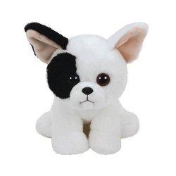 TY Beanie Babies Mujeek - Biały pies, 15 cm