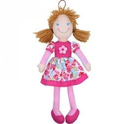 Beppe Lalka szmaciana Cornelia 38 cm, brunetka różowa
