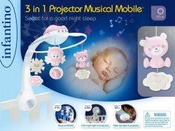 B-kids Muzyczna karuzelka Infantino 3w1 różowa
