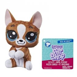 Hasbro Pluszowa przypinka Littlest Pet Shop Mcterrier