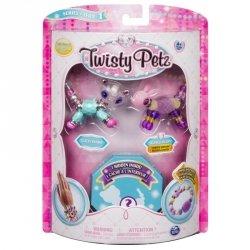 Bransoletki Twisty Petz - 3-pak Panda, królik, kot