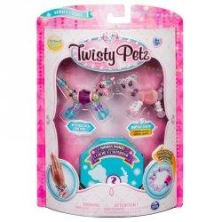 Bransoletki Twisty Petz - 3-pak Jednorożec, gepard, żółw