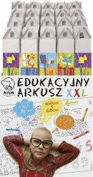 Kolorowanka Arkusz edukacyjny XXL display podłogowy, 20 sztuk