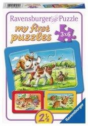 Ravensburger Układanka 3 x 6 elementów - Zwierzęta