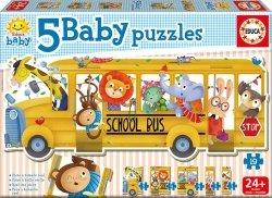 Educa Puzzle Baby 19 elementów Autobus szkolny