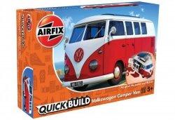 Airfix Model plastikowy QUICKBUILD VW Camper Van czerwony