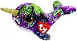 Meteor Maskotka Beanie Boos Flippables Cekinowy narwal 15 cm
