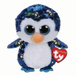 Meteor Maskotka Beanie Boos Flippables Cekinowy pingwin 24 cm