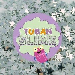 TUBAN Brokat Slime - Srebrne gwiazdki