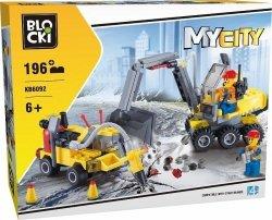 Blocki Klocki MyCity 196 elementów Pojazdy budowlane