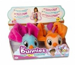 Tm Toys Pluszowy ptaszek Bunnies Friends 2pak pomarańczowy i niebiesko-różowy