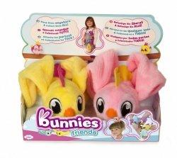 Tm Toys Pluszowy ptaszek Bunnies Friends 2pak żółty i jasnoróżowy