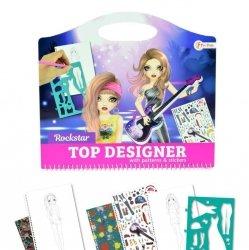 Symag Kolorowanka fashion rockstar z naklejkami Toi-Toys 46133 Top Designer
