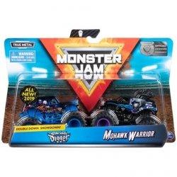 Spin Master Auta MONSTER JAM 1:64 2- pak, Sonuva Diger vs Mohawk Warior