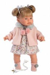 Llorens Lalka płacząca Alexandra blondynka różowy sweterek 42264 42 cm