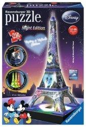 Ravensburger Puzzle 216 elementów Wieża Eifla Night Edition