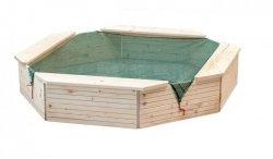 Woodyland Piaskownica drewniana z osłoną 130x130 cm