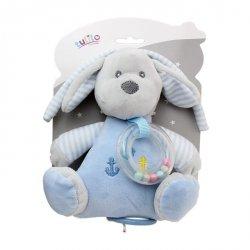 Pozytywka New Baby Piesek niebieski 18 cm