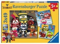 Puzzle 3x49 elementów Robot Trains