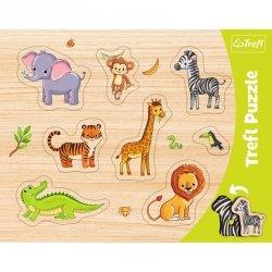 Trefl Puzzle Ramkowa układanka kształtowa - Zwierzęta egzotyczne
