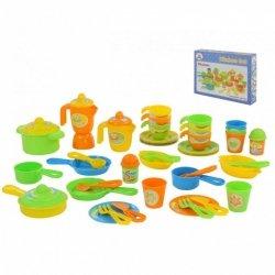 WADER-POLESIE Zestaw naczyń dla dzieci 50 elementów pudełko