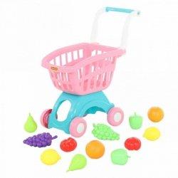 WADER-POLESIE Wózek do sklepu mini i zestaw zakupowy