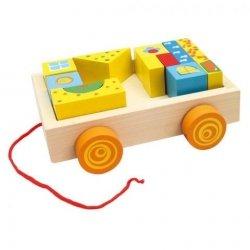 BINO Drewniany samochód z klockami