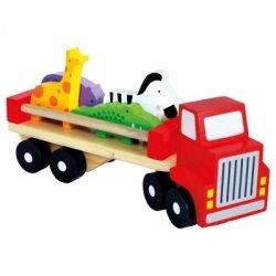 BINO Ciężarówka ze zwierzętami Zestaw dla malucha