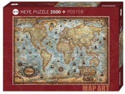 Heye Puzzle 2000 elementów Świat