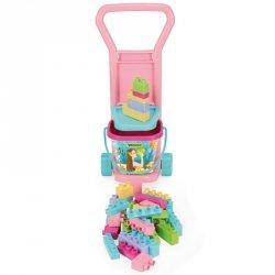 Wader Wózek z klockami różowy