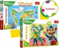 Trefl Duopack Trefliki Zwierzęta i puzzle 100 elementów