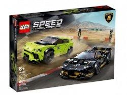 LEGO Klocki Speed Champions Lamborghini Urus ST-X i Lamborghini Huracán Super Trofeo EVO