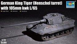 Trumpeter Plastikowy model do skejania King Tiger w/ 105mm kWh (Henschel Turret)