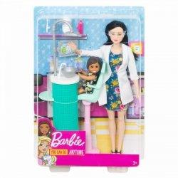 Mattel Lalka Barbie Kariera dentystka brunetka