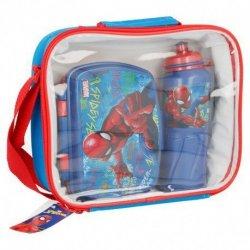Zestaw śniadaniowy: pojemnik i bidon 530 ml Spiderman