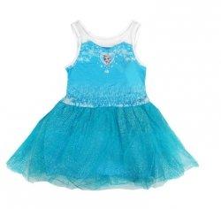 Sukienka tiulowa Frozen – Kraina Lodu, niebieska : Rozmiar: - 110