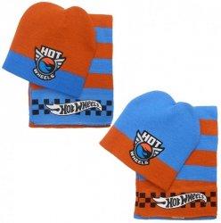 Komplet: czapka jesienna / zimowa i szalik Hot Wheels : Rozmiar: - 51 cm