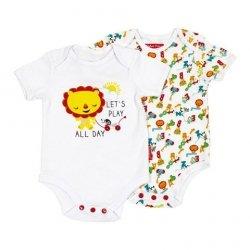 Body niemowlęce – 2 pak Fisher Price : Rozmiar: - 24 m