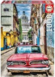 Puzzle Klasyczne Auto w Starej Hawanie 1000 el.