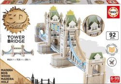 Educa Puzzle 3D Monument Tower Brigde 92 el.