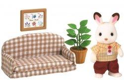 EPOCH  Sylvanian Families Zestaw z tatą królików z czekoladowymi uszkami (kanapa)