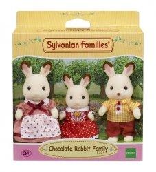 Sylvanian Families Rodzina królików z czekoladowymi uszkami  (Tata, Mama, Dziecko)