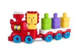 Mattel Fisher Price Lwi Pociąg + Klocki do układania