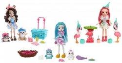 Mattel Enchantimals Lalka + zwierzątka Zestaw Ast.