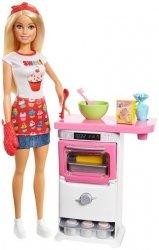 Mattel Barbie Domowe wypieki Zestaw do zabawy + Lalka