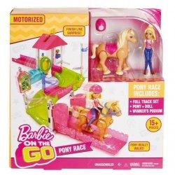Barbie On The Go Wyścig kucyków zestaw + Lalka