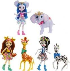Mattel Enchantimals Lalka + Duże zwierzę Ast.