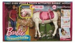 Barbie Interaktywny Koń Barbie + Lalka