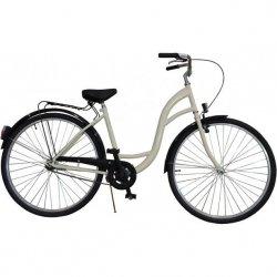 Rower Miejski Damski 28 Classic Kremowy