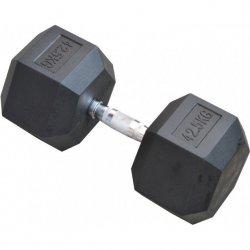 Hantla gumowa Hex 42,5 kg eb fit